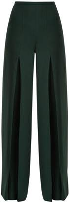Roland Mouret Burton wool-crepe wide-leg trousers