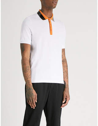Fred Perry Tape collar cotton-piqué polo shirt