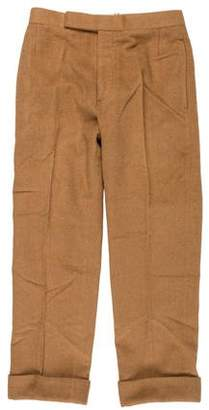 Thom Browne Woven Cuffed Cropped Pants