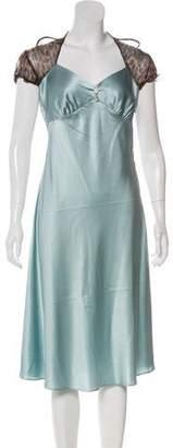 Miguelina Short Sleeve Knee-Length Dress