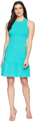 Donna Morgan Crepe Sheath Dress with Flounce Women's Dress