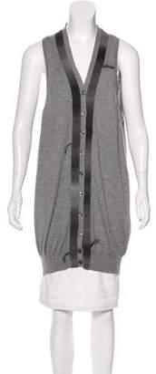 Saint Laurent Fur-Accented Cashmere Vest