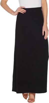 Belle By Kim Gravel TripleLuxe Knit Smoothing Waist Maxi Skirt