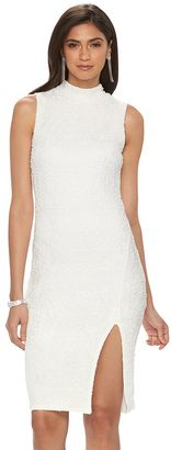 Women's Jennifer Lopez Embellished Mockneck Sheath Dress $70 thestylecure.com