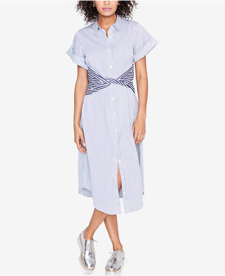 Rachel Roy Striped Sash-Waist Shirtdress, Created for Macy's
