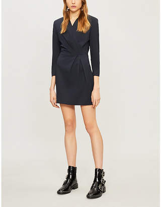 Sandro Attinara pleated-front woven dress