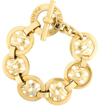 Celine Pre-Owned 1980's cross hatch chain bracelet