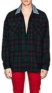 Fear Of God Men's Plaid Wool Flannel Oversized Shirt - Green