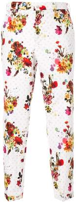 Loveless floral print cropped trousers