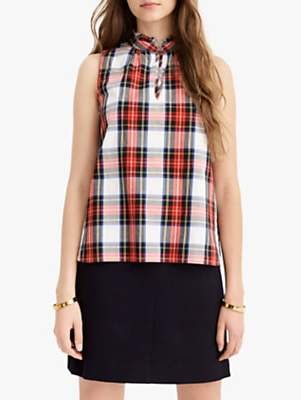 9fef05ee46f804 at John Lewis and Partners · J.Crew Magnetic Plaid Top