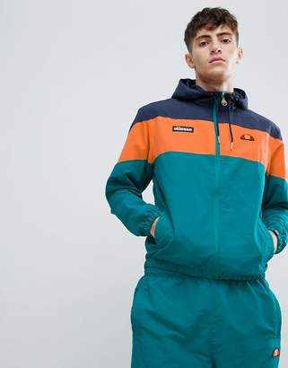 Ellesse Mattar block paneled track jacket in green