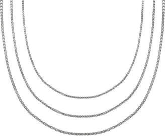 STERLING SILVER CHAINS Sterling Silver 18 Box, Rope and Square Snake Chains