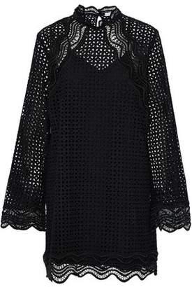 IRO Cotton Guipure Lace Mini Dress