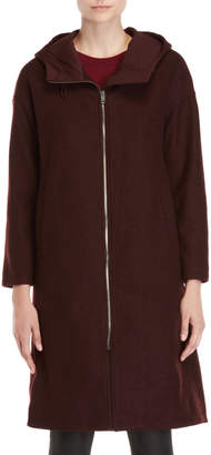D'demoo Long Hooded Coat