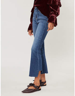 Hudson Holly cropped flared high-rise jeans