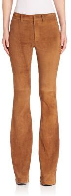 Polo Ralph Lauren Suede Flared Pants $1,298 thestylecure.com