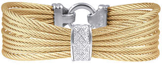 Alor Diamond 18K & Stainless Steel Cable Bracelet