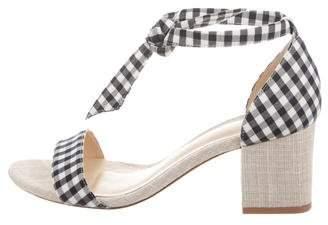 Alexandre Birman Gingham Lace-Up Sandals