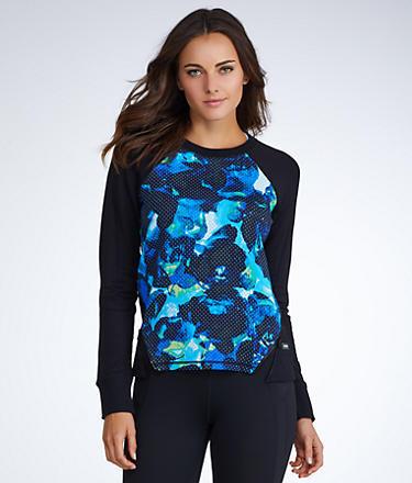 Calvin Klein Performance Scuba Front Zip Pullover Top
