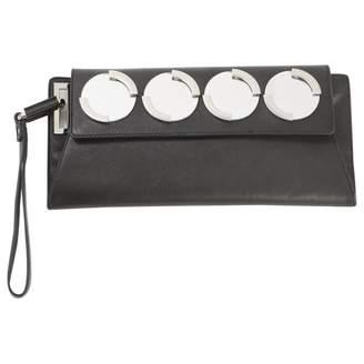 Diesel Black Leather Clutch Bag