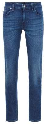 BOSS Hugo Slim-fit jeans in bright-blue Italian stretch denim 33/32 Turquoise