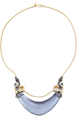 Alexis Bittar Gold-Tone Double Coiled Snake Bib Necklace