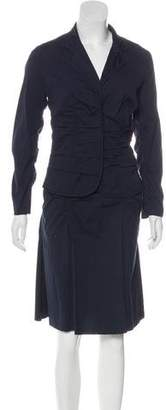 Prada Ruched Skirt Suit