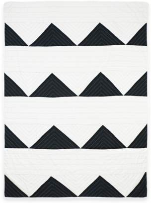 Anchal Project Organic Cotton Charcoal Triangle Throw