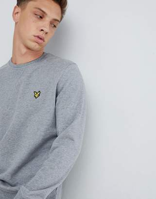 Lyle & Scott logo crew neck sweat in gray