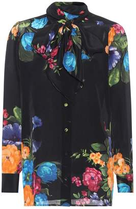 Gucci Floral-Printed Silk Shirt
