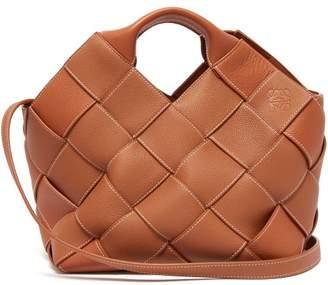 Loewe Woven Leather Tote - Womens - Tan