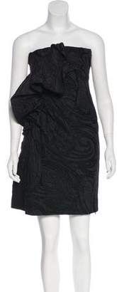 Lanvin Strapless Matelassé Dress
