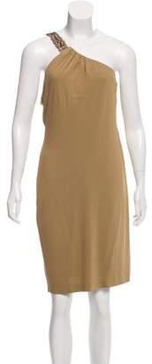 Ralph Lauren One-Shoulder Knee-Length Dress