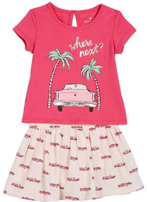 Kate Spade Where Next Tee W/ Hot Rod Skirt, Size 12-24 Months