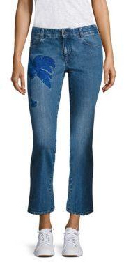 Stella McCartneyStella McCartney Embroidered Skinny Kick Flare Jeans