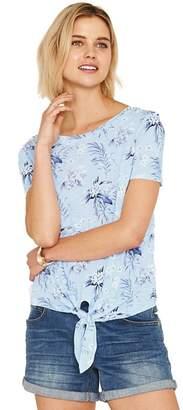 Oasis Multicoloured Paradise Palm Tie Front T-Shirt