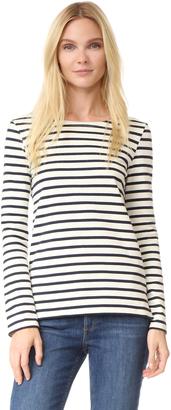 Petit Bateau Hannah Long Sleeve Stripe Tee $91 thestylecure.com