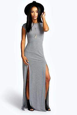 boohoo NEW Womens Front Split Maxi Dress in Polyester