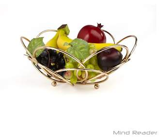 Mind Reader Modern Rose Gold Fruit and Vegetable Bowl, Gold