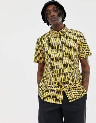HUF Night Market Repeat Logo Shirt In Yellow
