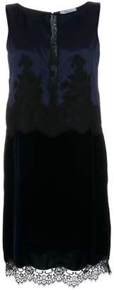 Blumarine lace-trimmed shift dress