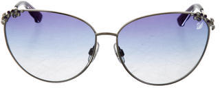 Swarovski Cutie Oversize Sunglasses $145 thestylecure.com
