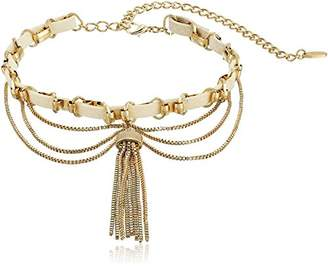Ettika Down the Spiral Staircase in and Gold Choker Necklace
