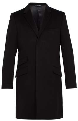 Dolce & Gabbana Tailored Virgin Wool And Cashmere Blend Coat - Mens - Black