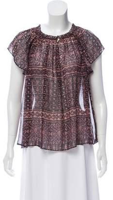 Ulla Johnson Silk Printed Sleeveless Top
