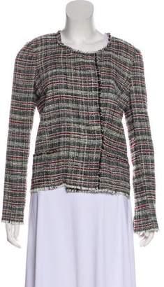 Etoile Isabel Marant Tweed Fringe Trim Jacket
