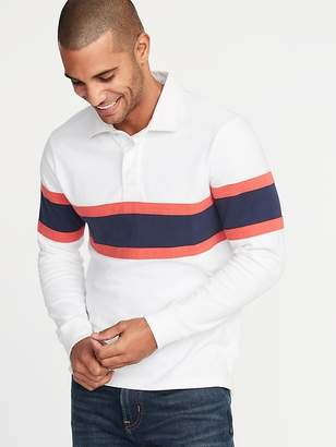 Old Navy Pieced-Stripe Jersey Rugby for Men