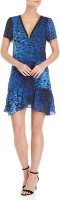 Gaudi' Gaudi Leopard Print Chain Trim Dress
