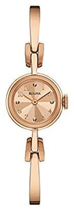 Bulova Women's Quartz Stainless Steel and Gold Dress Watch (Model: 97L156) $168.75 thestylecure.com