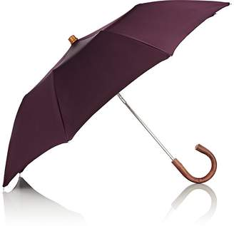 Barneys New York Men's Tech-Twill Folding Umbrella